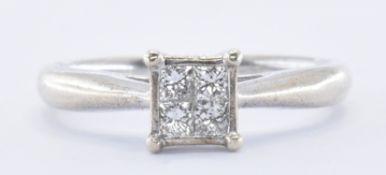 9CT WHITE GOLD & DIAMOND RING