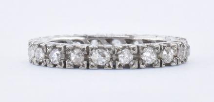 18CT WHITE OLD & DIAMOND ETERNITY RING