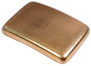 MID 20TH CENTURY HALLMARKED 9CT GOLD SNUFF BOX