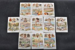 GROUP OF 11 EARLY 20TH CENTURY W.D. & H.O. WILLS - BRITISH EMPIRE P SIZE CIGARETTE CARDS