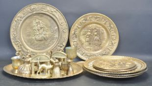 COLLECTION OF VINTAGE BRASS WARE