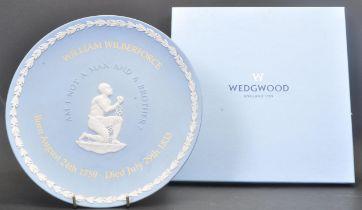 VINTAGE 20TH CENTURY WEDGWOOD JASPERWARE WILLIAM WILBERFORCE PLATE