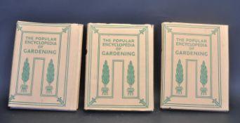THREE EDITION POPULAR ENCYLOPAEDIA OF GARDENING