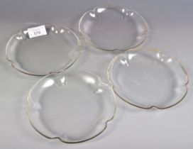 SET OF FOUR VICTORIAN CLEAR GLASS DISHES