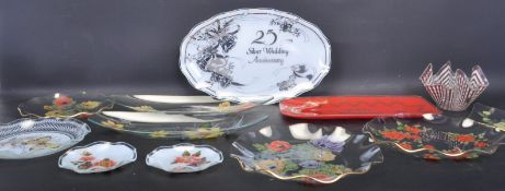 COLLECTION OF MID 20TH CENTURY SERVING PLATTERS