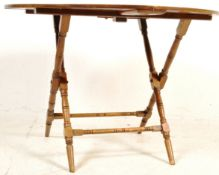 19TH CENTURY VICTORIAN MAHOGANY COACHING TABLE BY THORNTON AND HERNE