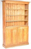 RETRO VINTAGE 1960'S OAK SCHOOL BOOKCASE