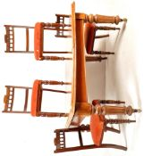 19TH CENTURY VICTORIAN EXTENDING DINING TABLE AND CHAIRS