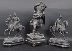 GROUP OF THREE EARLY 20TH CENTURY SPELTER FIGURINES