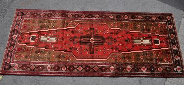 20TH CENTURY HAND WOVEN MESHED BELOUCH RUG / RUNNER