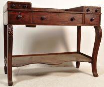 19TH CENTURY GEORGE III MAHOGANY DRESSING TABLE