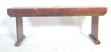 19TH CENTURY VICTORIAN STYLE PINE BENCH / WINDOW SEAT