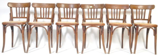 MICHAEL THONET FOR LIGNA - SET OF SIX BENTWOOD BISTRO CHAIRS