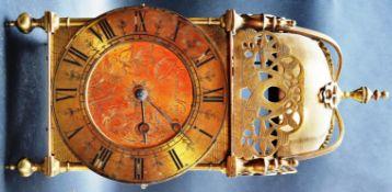 EARLY 20TH CENTURY THOMAS MUDGE BRASS LANTERN CLOCK