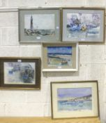 Sheila Waddington, a collection of watercolours and oil paintings of seascapes and landscapes from