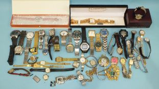 A large quantity of assorted wrist watches.