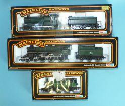 Mainline OO gauge, 37-053 BR 4-6-0 Standard Class 4 locomotive RN75001; 37-058 GWR 0-6-0 2251