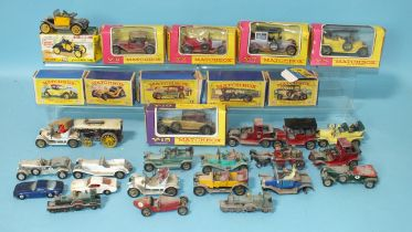 Dinky Toys, 109 Gabriel Model T Ford, (boxed) and a collection of Matchbox Models of Yesteryear