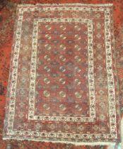 An Eastern rug, 201 x 146cm.