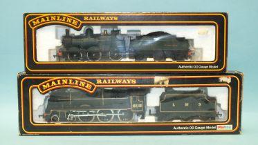 "Mainline OO gauge, 37-056 LMS Rebuilt Scot Class 4-6-0 locomotive RN6115 ""Scots Guardsman"" and 54156"