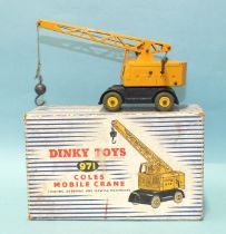 Dinky Toys: 971 Coles Mobile Crane, (boxed with packing).