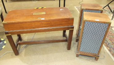 A Dynatron model no. HFC 75/401109 radiogram with two speakers LS 2928, with Garrard SP 25 Mk IV