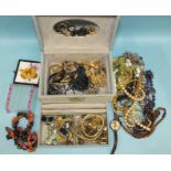 An Ingersoll Mickey Mouse wrist watch, (not working, no winder) and a quantity of costume