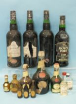 Benedictine Liquor, (50cl), 2 x 12.5cl, a miniature Dimple Haig Whisky with metal cap, other