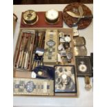 A silver cigarette case, three modern gent's wrist watches, plated cutlery and miscellaneous items.