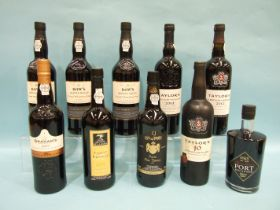 A collection of LBV Port: Dows Master Blend, three bottles, Taylors 2012, one bottle, 2003, one