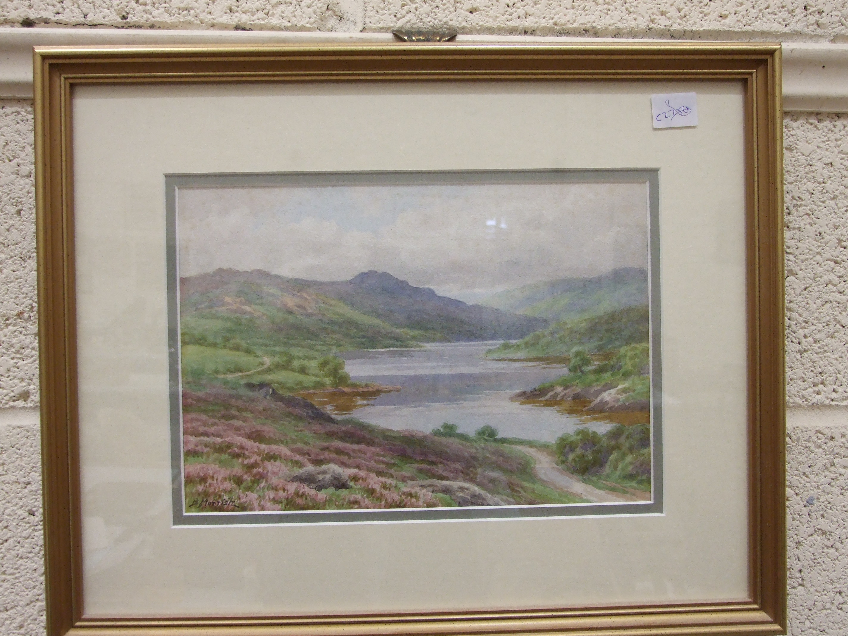 B Morrish, 'Mist Tor and Burrator Lake', signed watercolour, 18 x 27cm and Sue Mercer 'Sheepstor - Image 3 of 3