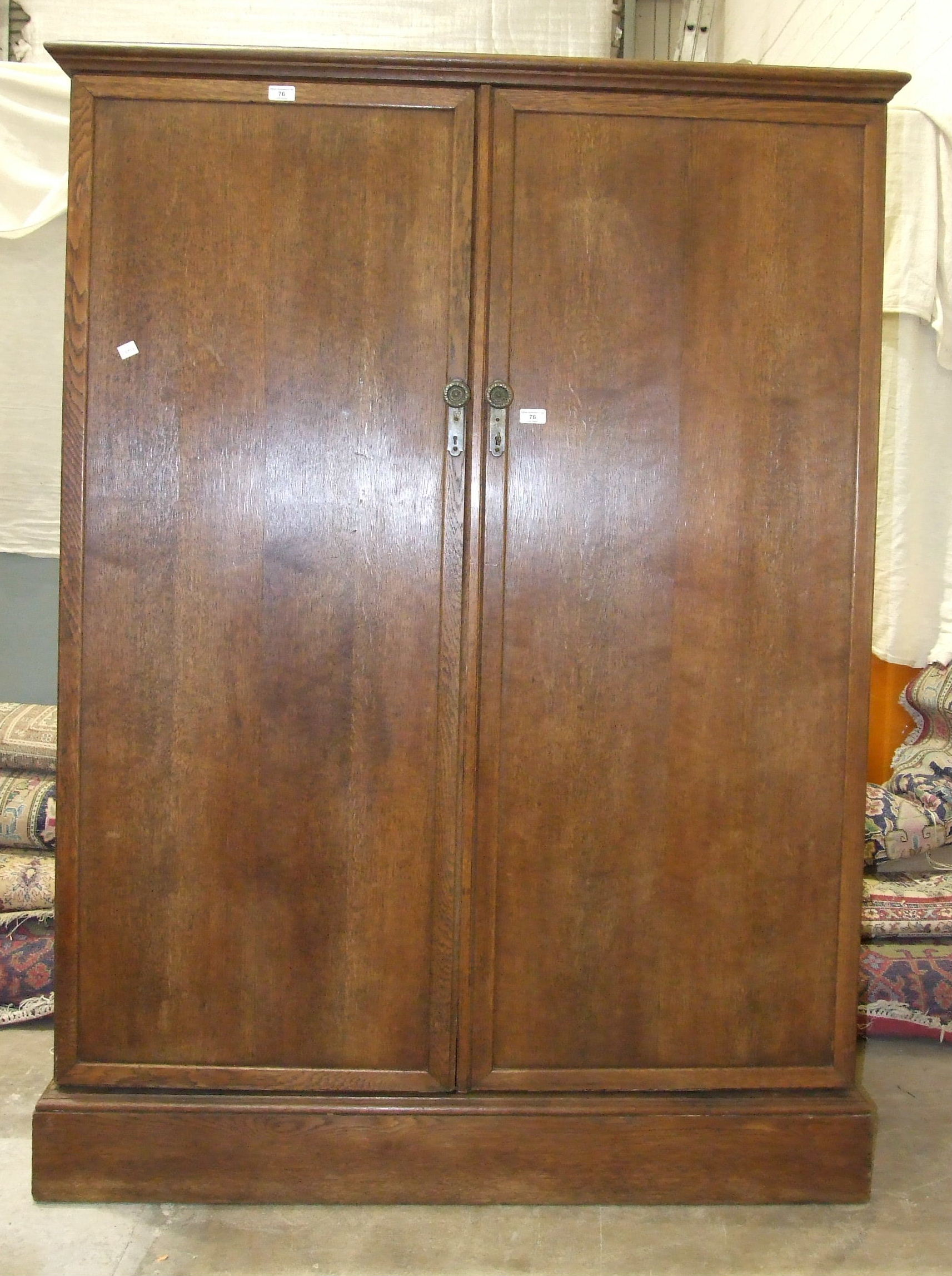 """An oak """"Compactum"""" wardrobe with fully-fitted interior, including glazed compartments, trouser and - Image 5 of 5"""