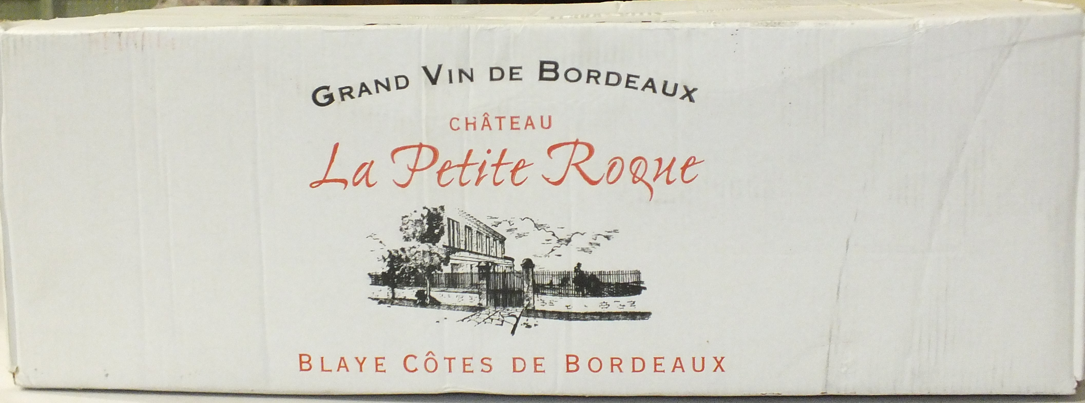 Chateau La Petit Roque Blaye, twelve bottles, in cardboard case.
