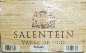 Salentein Valle de Luco, Primus Malbec 2016, six bottles in original wooden crate, (6).