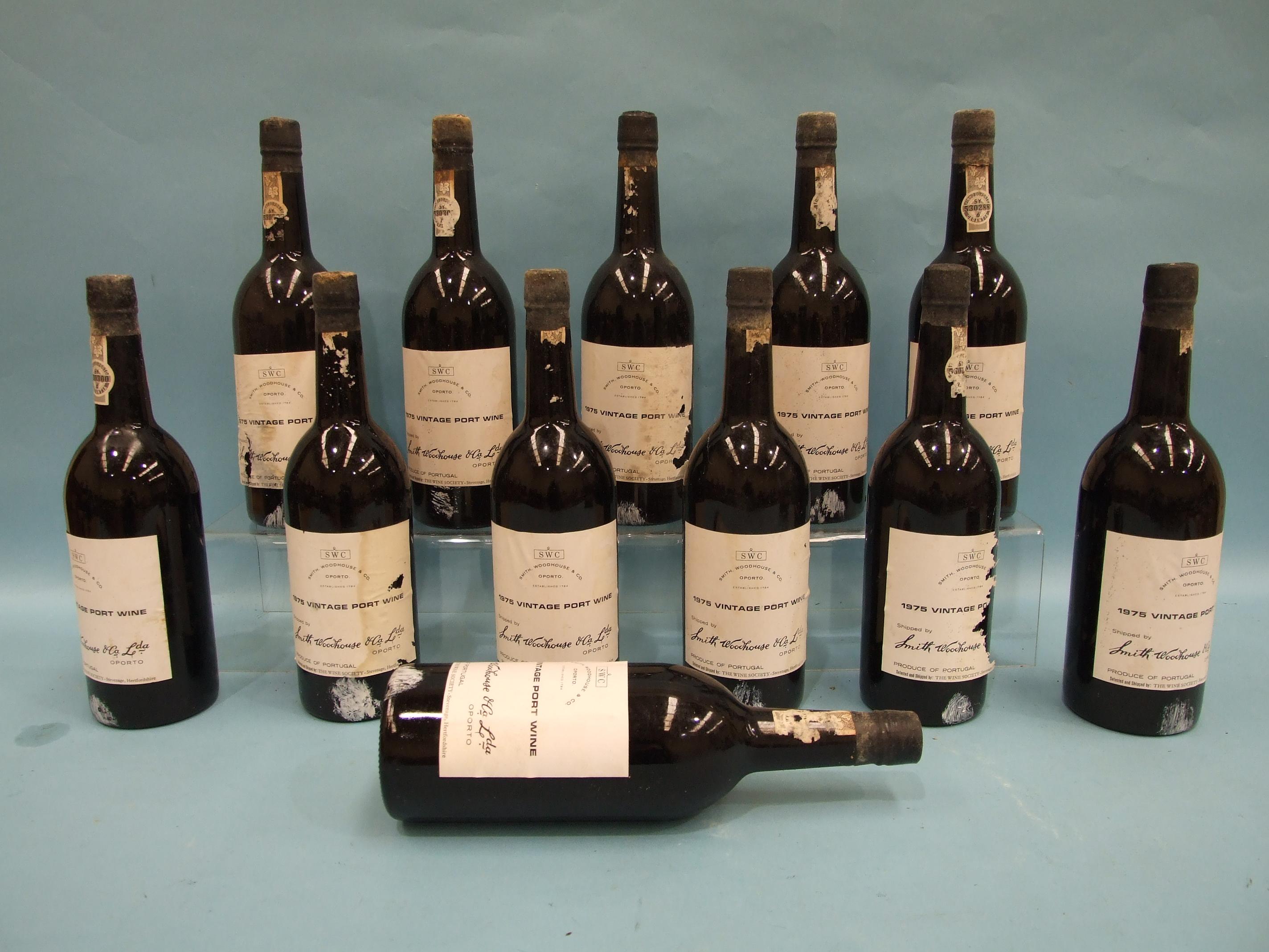 Smith Woodhouse & Co. Ltdvintage Port 1975, twelve bottles, in cardboard case, (some labels