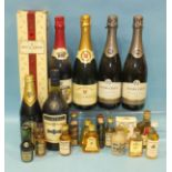 Moët & Chandon Brut Imperial Champagne, in cardboard box, one bottle, (75cl), Martell Cognac (24fl.