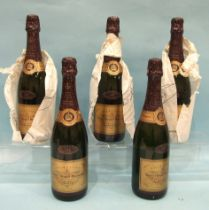 Veuve Clicquot Ponsardin Champagne vintage 1983 Reserve, five bottles, (5).