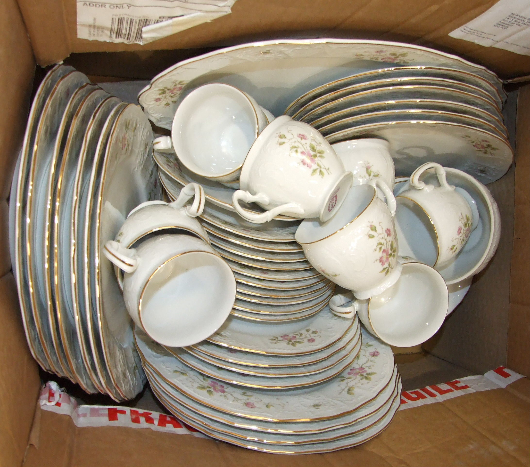 Nineteen pieces of Wedgwood 'Clementine' tea ware, thirty-two pieces of Johnson Bros 'Indies' tea - Image 2 of 3