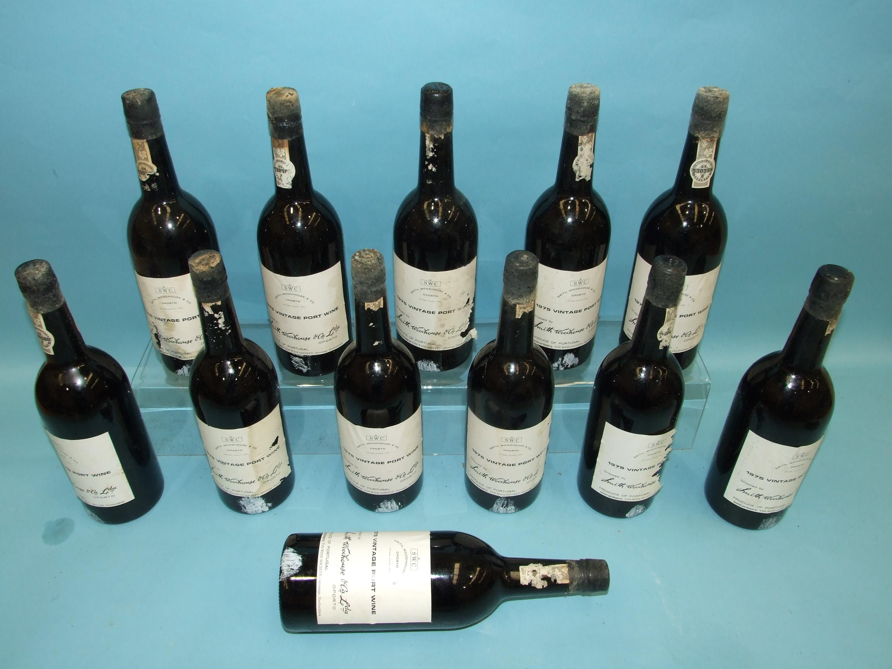 Smith Woodhouse & Co. Ltdvintage Port 1975, twelve bottles, in cardboard case, (some labels - Image 2 of 3