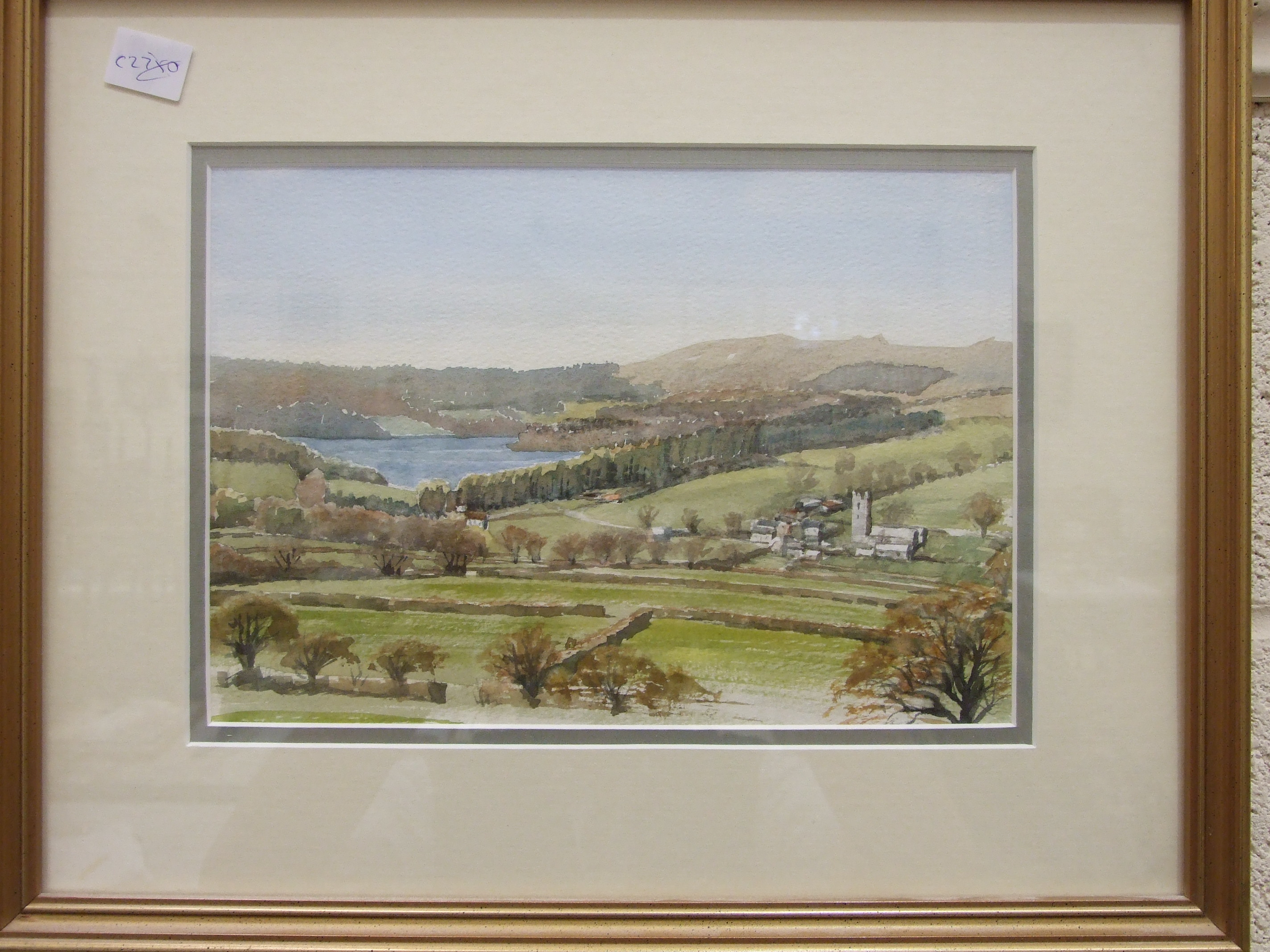 B Morrish, 'Mist Tor and Burrator Lake', signed watercolour, 18 x 27cm and Sue Mercer 'Sheepstor - Image 2 of 3