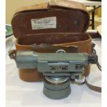 A late-20th century surveyor's level by John Davis & Son (Derby) Ltd, no.103419, in leather case,