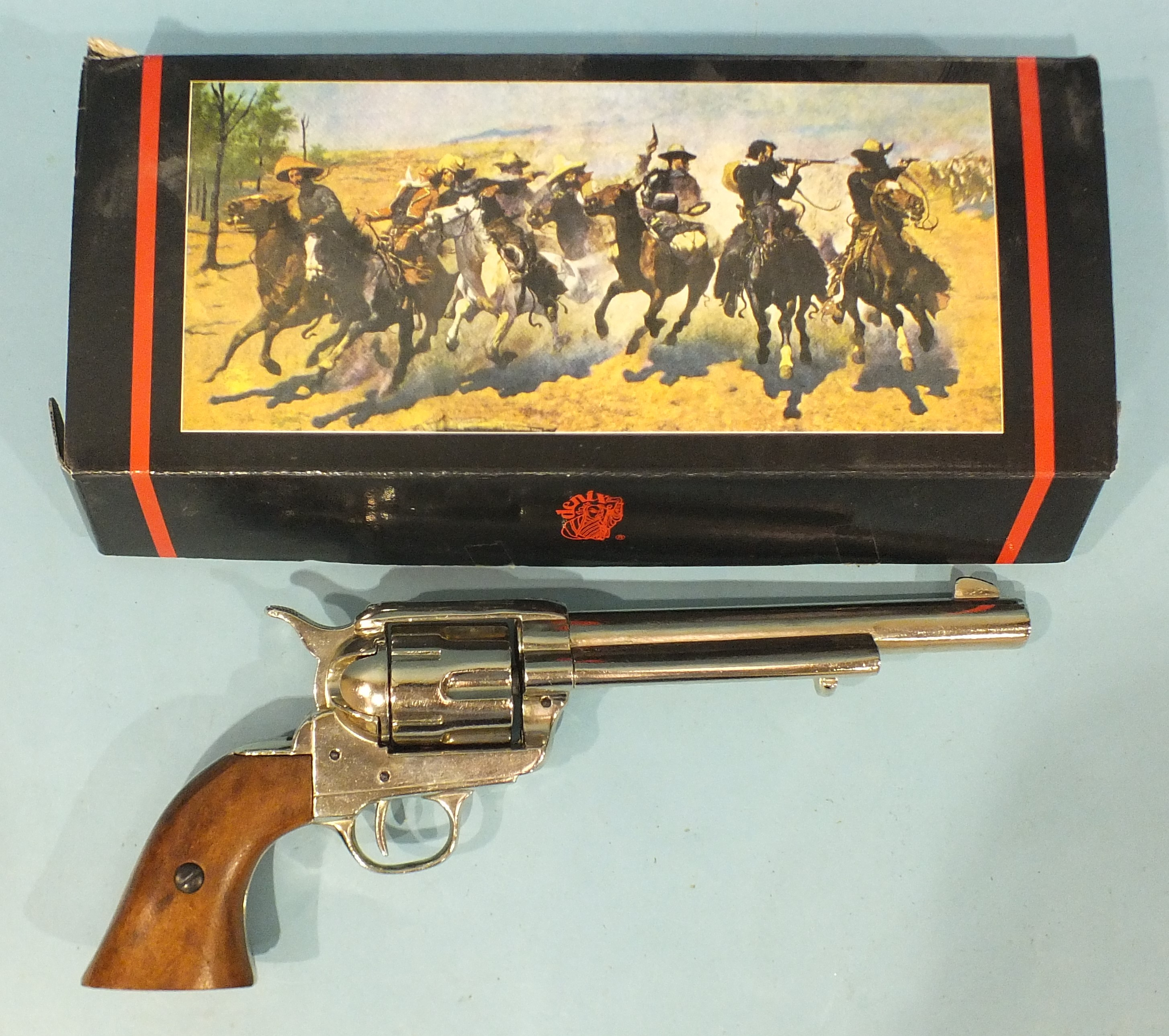 A replica BKA98 revolver, (in Denix box).