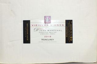 Domaine Jean Marechal, Mercurey 2018, six bottles, in cardboard case.