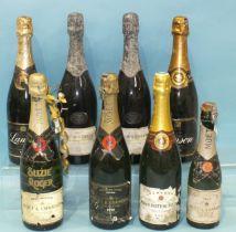 Moët & Chandon 1998 vintage Champagne, one bottle, Lanson Black Label, two bottles, Moët & Chandon