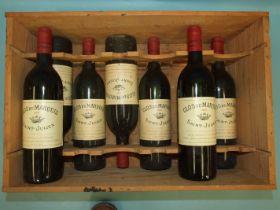 Clos Du Marquis St Julian 1985, seven bottles, (7).