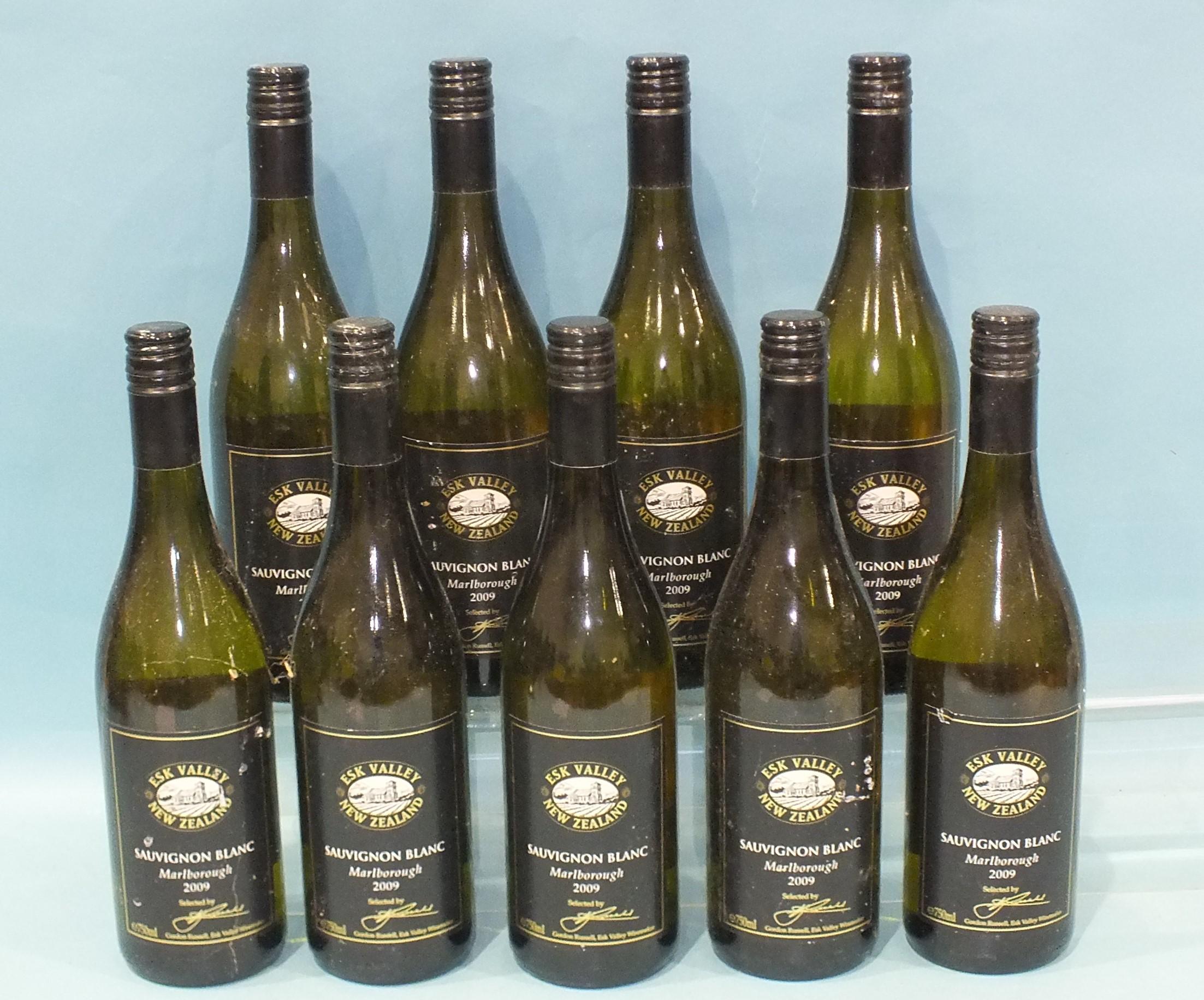 Esk Valley Estate Sauvignon Blanc 2009, New Zealand, (750ml), nine bottles, (9).