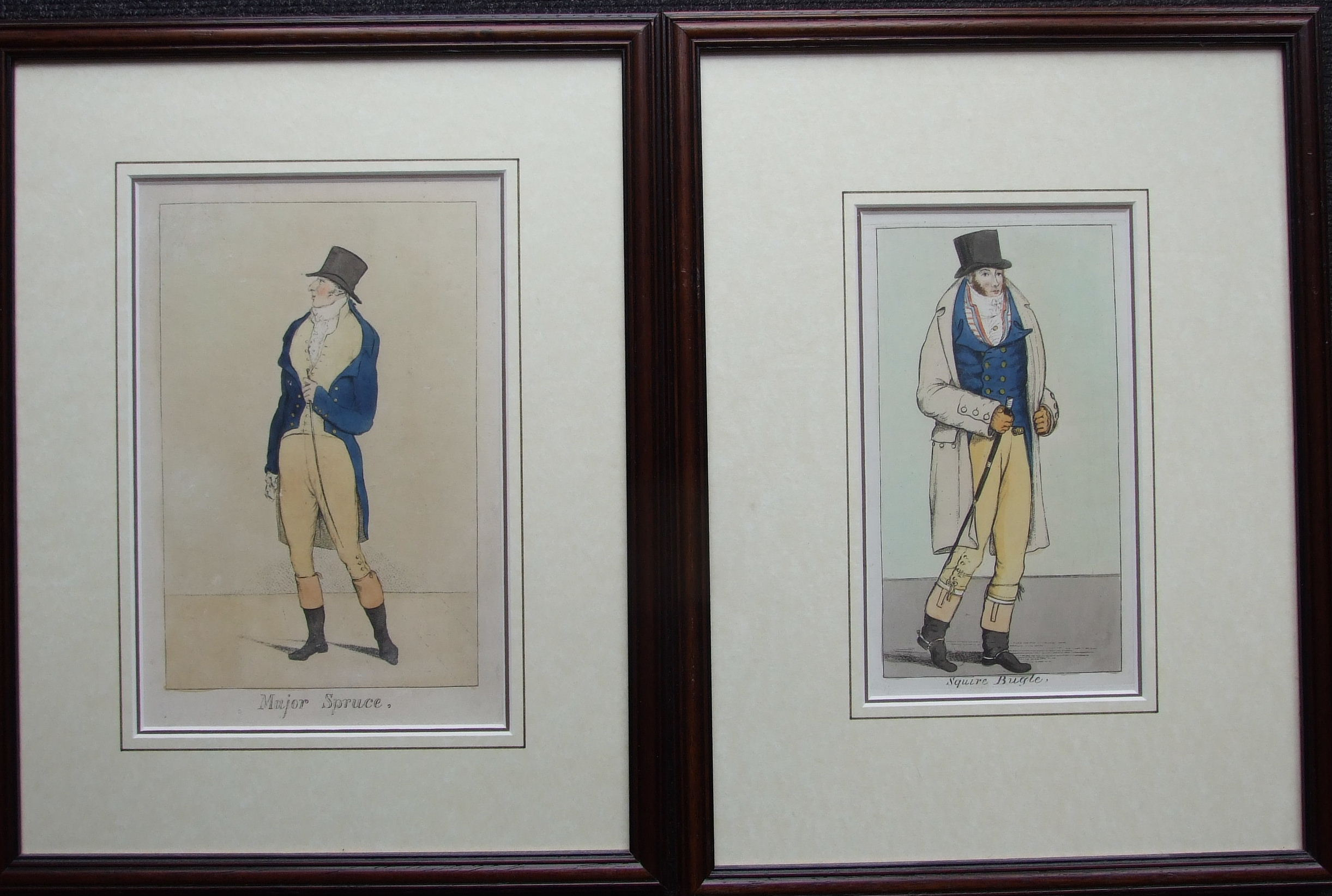 A collection of six framed political and satirical coloured engravings, Pub. Samuel Fores and - Image 3 of 4