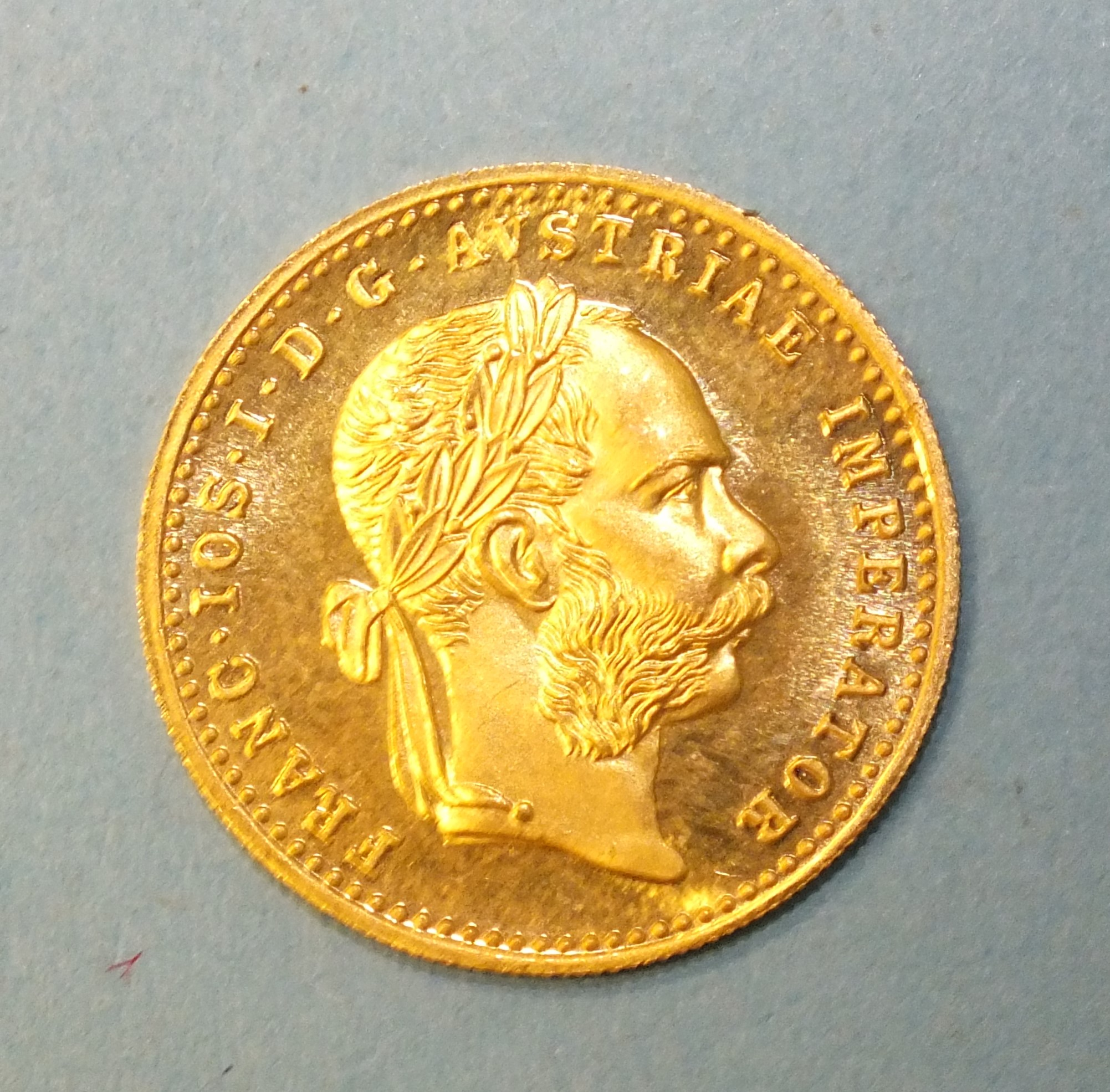 A 1915 Austria 1-ducat gold coin, 3.5g. - Image 2 of 2