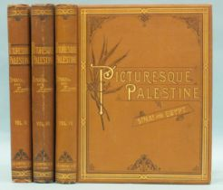 Wilson (Capt Charles), Picturesque Palestine, Sinai & Egypt, vols II-IV only, steel and wood