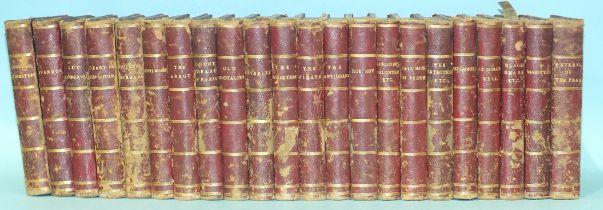 Scott (Sir Walter), novels, 22 vols, marbled bds, hf red mor gt, 12mo, Adam & Charles Brock, 1862-3,